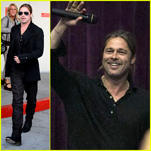 Brad Pitt Continues 'World War Z' Surprises in Los Angeles!
