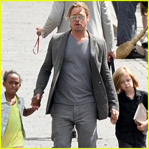Brad Pitt: Kremlin Visit with Shiloh & Zahara!