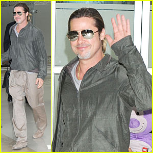 Brad Pitt & Pax: South Korea Arriving Father-Son Duo!