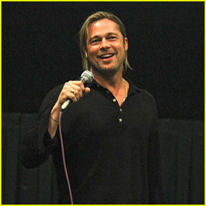 Brad Pitt Surprises Austin Audience - Fourth City in One Day!