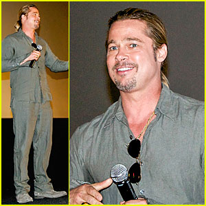 Brad Pitt: 'World War Z' Fan Surprise in Spain!