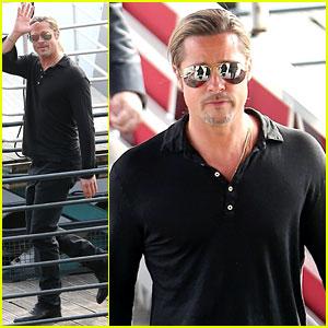 Brad Pitt: 'World War Z' Promo Work in Paris!