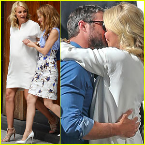 Cameron Diaz & Taylor Kinney Kiss for 'Other Woman'!