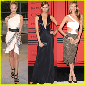 Candice Swanepoel & Karlie Kloss - CFDA Fashion Awards 2013 Red Carpet