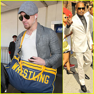 Channing Tatum & Jamie Foxx: We Love Wrestling & Peace!