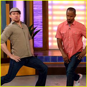 Channing Tatum & Jamie Foxx Dance for 'Despierta America'!
