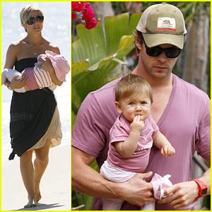 Chris Hemsworth & Elsa Pataky: Malibu Family Outing!