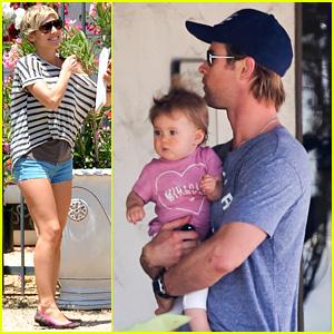 Chris Hemsworth: Malibu Shopping with Elsa Pataky & India!
