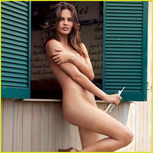 Chrissy Teigen Goes Naked for 'GQ' July 2013