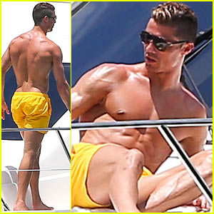 Cristiano Ronaldo: Shirtless Yacht Ride in Miami!