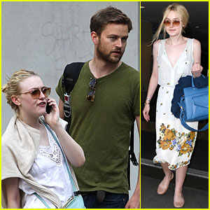 Dakota Fanning: LAX Landing After Hanging with Jamie Strachan