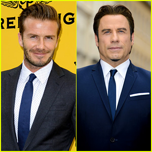 David Beckham & John Travolta: Breitling Store Opening!