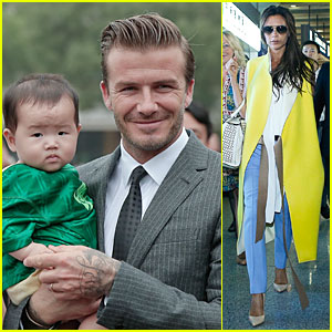David Beckham Visits Hangzhou Greentown Club, Victoria Shops!