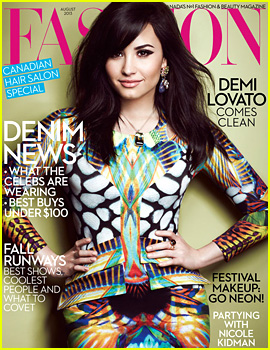 Demi Lovato Covers 'Fashion' Magazine August 2013