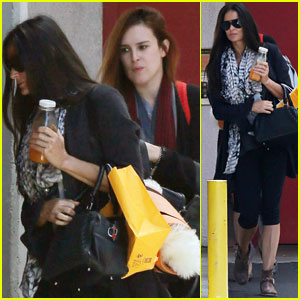 Demi Moore: WeHo Yoga Class with Rumer
