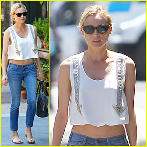 Diane Kruger: Midriff Baring Lunch with Micah Schifman!