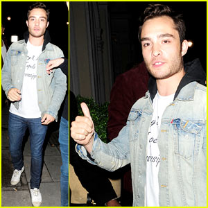 Ed Westwick Celebrates Birthday at 3 Cromwell in London!