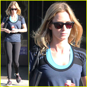Emily Blunt Has a West Hollywood Salon Day!