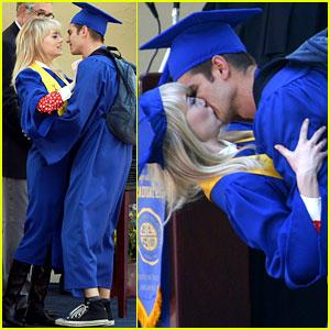 Emma Stone & Andrew Garfield Kiss at 'Spider-Man' Graduation!