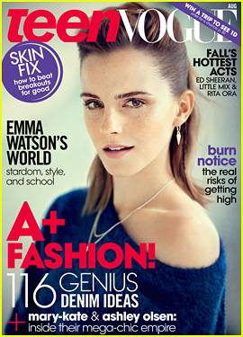 Emma Watson Covers 'Teen Vogue' August 2013!