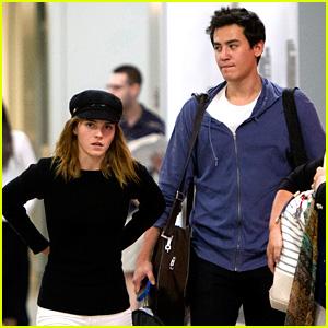 Emma Watson & Will Adamowicz Land in New York City