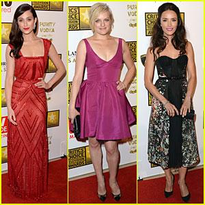 Emmy Rossum & Elisabeth Moss - Critics' Choice TV Awards 2013