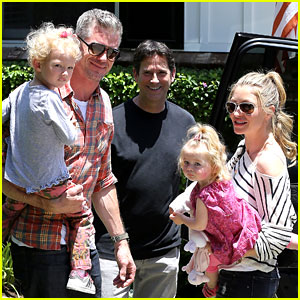 Eric Dane & Rebecca Gayheart Spend Sunday with the Girls