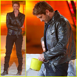 Gerard Butler Puts Ice Down His Pants on German TV Show!