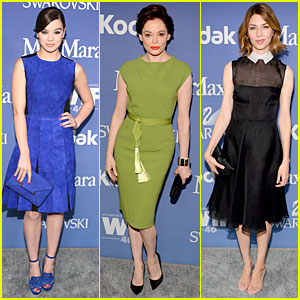 Hailee Steinfeld & Rose McGowan - Crystal & Lucy Awards 2013 Red Carpet