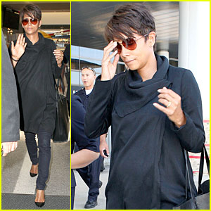Halle Berry: LAX Arrival After Champs-Elysees Film Festival!