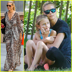 Heidi Klum & Martin Kirsten Take the Kids to the Park