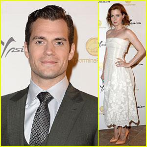 Henry Cavill & Amy Adams: 'Man of Steel' Premiere Party in Italy!