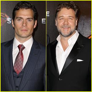 Henry Cavill & Russell Crowe: 'Man of Steel' Australian Premiere!