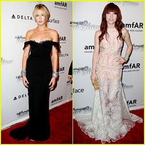 Ireland Baldwin & Carly Rae Jepsen - amfAR Inspiration Gala 2013