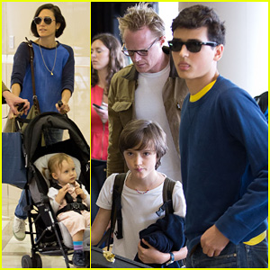 Jennifer Connelly & Paul Bettany: LAX Arrivial with the Kids!