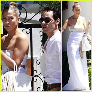 Jennifer Lopez & Marc Anthony Reunite for Twins' School Event