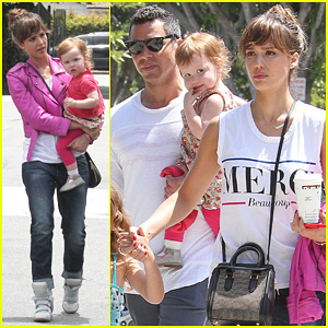 Jessica Alba & Cash Warren: Melrose Outing with the Kids!