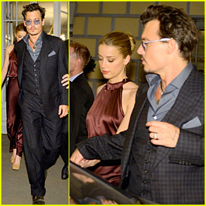 Johnny Depp & Amber Heard Hold Hands Aft