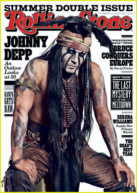 Johnny Depp Covers 'Rolling Stone' Magazine As Lone Ranger's Tonto!