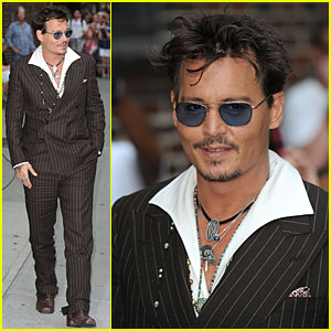 Johnny Depp: 'Lone Ranger' Promotion on 'Letterman'!
