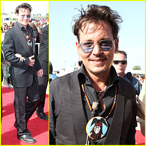 Johnny Depp: 'The Lone Ranger' Surprise Screening Appearance!