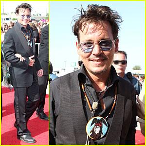 Johnny Depp: 'The Lone Ranger' Surprise Screening Appearance!