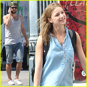 Josh Bowman Grabs Lunch, Emily VanCamp Smiles in NYC!