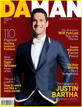 Justin Bartha Covers 'Da Man' Magazine June/July 2013