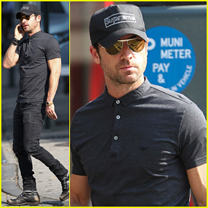 Justin Theroux: Bar Pitti Lunch Stop!