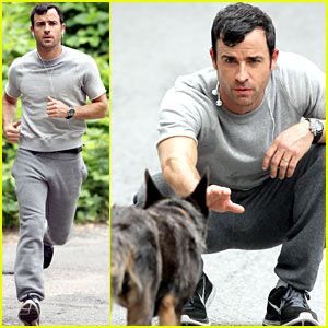 Justin Theroux Films Scenes with a Dog for 'The Leftovers'