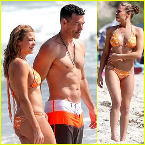 LeAnn Rimes: Bikini Beach Trip for Eddie Cibrian's 40th Bday!
