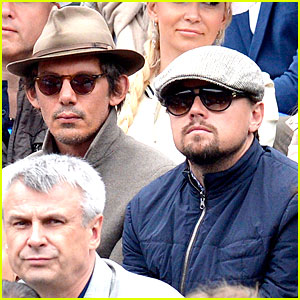Leonardo DiCaprio & Lukas Haas Attend French Open Finals