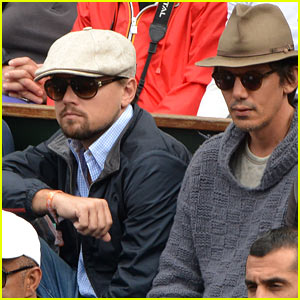 Leonardo DiCaprio Watches French Open with Lukas Haas