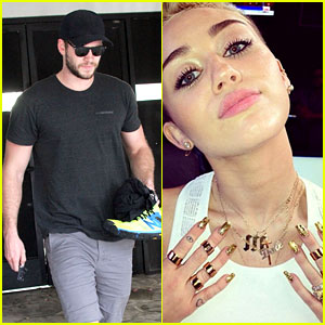Liam Hemsworth Works Out While Miley Cyrus Wears Engagement Ring